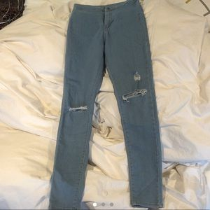 Topshop skinny high waisted jeans